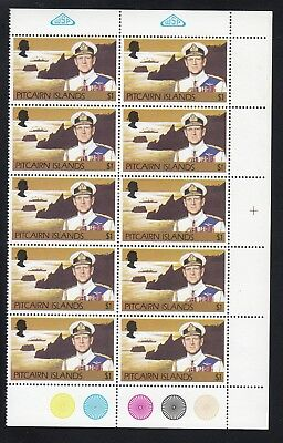 PITCAIRN ISLANDS 1977 $1 PRINCE PHILIP, block of 10, Mint Never Hinged