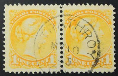Canada #35 Used Pair, Superb Centering, Strathroy Ont Cancel, May 10 '95 Dated