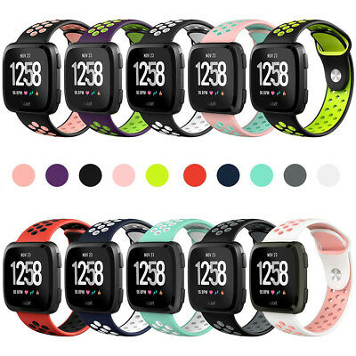 Sport Silicone Replacement Breathable Strap Bands for Fitbit Versa Smart Watch
