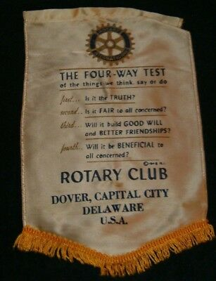 DOVER DELAWARE   Rotary International Club Wall Banner Flag