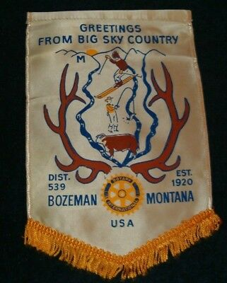 BOZEMAN MONTANA  Rotary International Club Wall Banner Flag