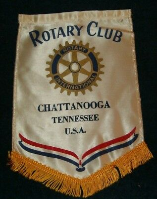 CHATTANOOGA TENNESSEE   Rotary International Club Wall Banner Flag
