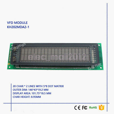 New 20X2 2002 VFD Display Module Compatible with FUTABA M202MD15FA M202MD15AJ