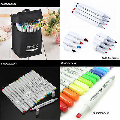 36 Colors Art Sketch Twin Marker Pen Manga Graphic Tool&Bag FINECOLOUR EF101