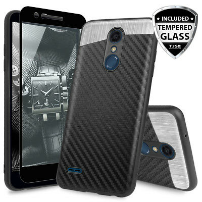 For [LG K30/Premier Pro/Xpression Plus] Magnetic Phone Case+Black Tempered Glass
