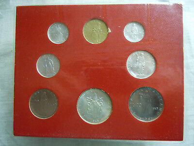 PAUL VI PAPA - 1965 Vatican City Mint Coinage Set Uncirculated 8 Coin**   AN III