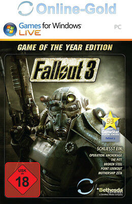 Fallout 3 Game of the Year Edition GOTY - PC STEAM Digital Download Code - USK18