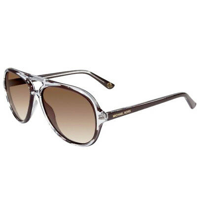 32dbb53fbd Michael Kors Caicos Brown Acetate Womens Aviator MK Sunglasses Shades  M2811S 210