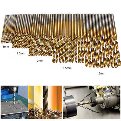 50pcs High Speed Steel Twist Drill  Woodworking Hand Tools HSS Drill Bit Set New
