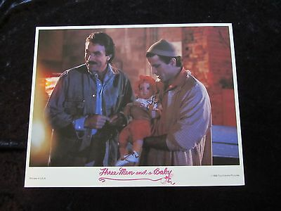 THREE MEN AND A BABY lobby card # 7 - TOM SELLECK, TED DANSON