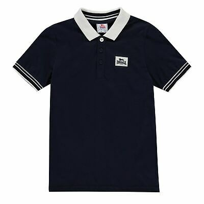 Lonsdale Kids Boys Jersey Polo Shirt Junior Classic Fit Tee Top Short Sleeve