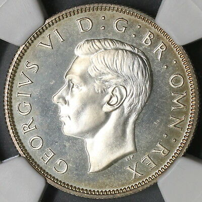 1937 NGC PF 64 Proof Silver Florin George VI Coronation GREAT BRITAIN (18010701C