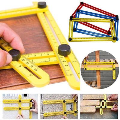 Multi Angle Template Scale Ruler Adjustable Four-Sided Folding Measuring Tool #1