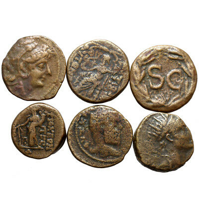 Lot Of 6 Ancient Greek And Roman Provincial Coins