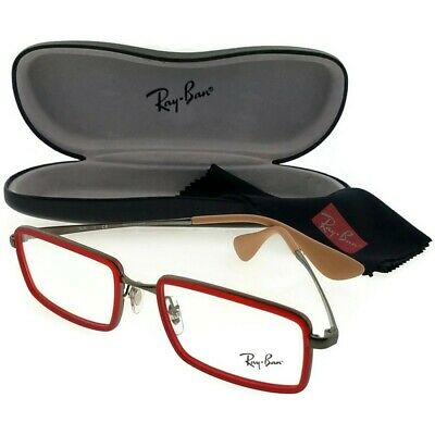 c341bc1a52324 Ray Ban RX6337-2856-53 Youngster Men s Red Frame Clear lens Genuine  Eyeglasses