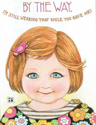 BTW STILL WEARING SMILE-Handcrafted Fridge Magnet-Using art by Mary Engelbreit