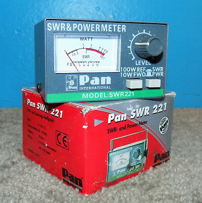 Pan SWR 221 SWR/Power Meter German Made 26-30MHz 100W CB Radios Free Shipping