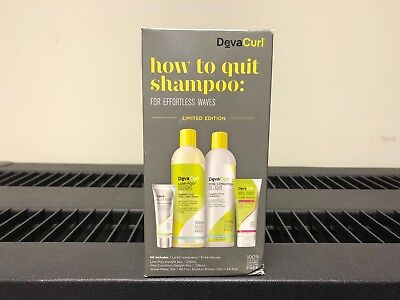 DevaCurl DELIGHT How to Quit Shampoo Kit - For Effortless Waves! LIMITED EDITION