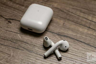 Apple AirPods - White MMEF2AM/A Genuine, Bluetooth Headsets With Case