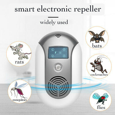 NEW Smart Pest Repeller Ultrasonic Wave Optical Electronic Rats, Bats, Mosquito