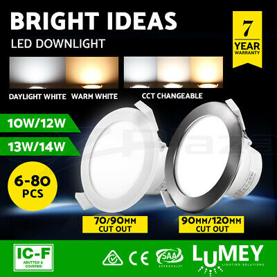 LUMEY LED Downlight Kit Dimmable Ceiling Light Daylight Warm White 10W 12W