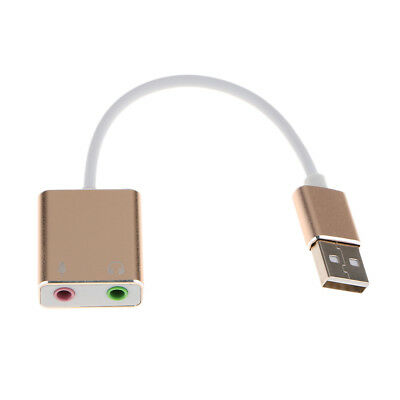 External USB 7.1CH 3D Adapter 3.5mm Jack Headphone Stereo Sound Card for PC
