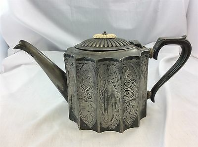 Antique Thomas Otley & Sons Silver Plated Teapot Sheffield Fully Marked c1800's