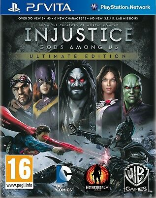 Injustice Gods Among Us Ultimate Edition PS Vita For PAL PS Vita (New & Sealed)