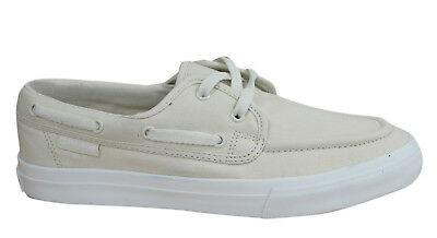 Converse Sea Star OX Mens Boat Shoe Trainers Cream Canvas Lace Up 121762 D10