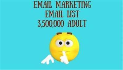 Email Marketing List Adult 3,500,000