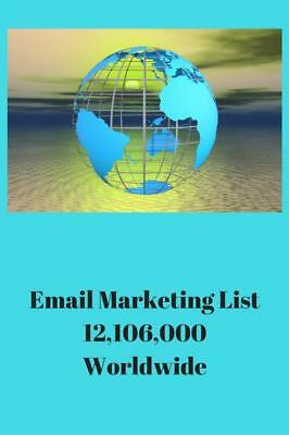 Email Marketing List 12,106,000 Worldwide