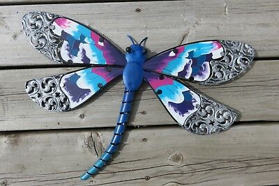 Metal Dragonfly Wall Art Decor Modern Retro Home Decor 20.5 In. Garden Yard New