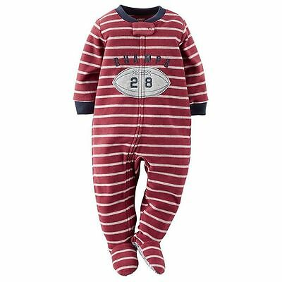 NWT ☀FOOTED FLEECE☀ CARTERS Boys Pajamas   New  FOOTBALL CHAMPS  4  4T  $30