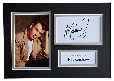 Nik Kershaw Signed Autograph A4 photo display Music Memorabilia AFTAL COA