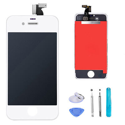 For i Phone 4S LCD Touch Screen Digitizer Front Glass Replacement Assembly White