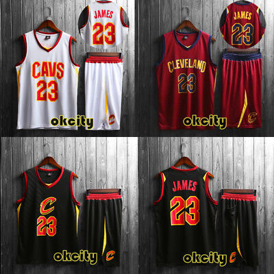 new products 56828 01b20 CLEVELAND CAVALIERS CAVS LBJ #23 LeBron James Jersey Shorts Adult Child Kid  Set