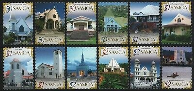 Samoa 2007 - Mi-Nr. 1042-1053 ** - MNH - Kirchen / Churches - Tempel / Temple
