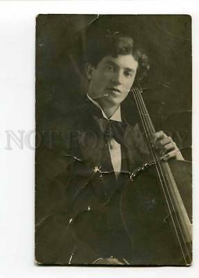 3028171 Morgovsky VIOLONCELLIST w/ CELLO old AUTOGRAPH Photo