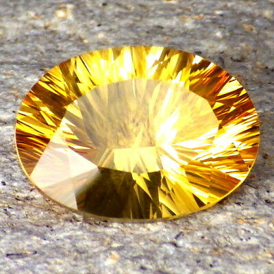 IMPERAIL CITRINE-BRAZIL 9.35Ct FLAWLESS-PERFECT CONCAVE CUT-FOR JEWELRY!