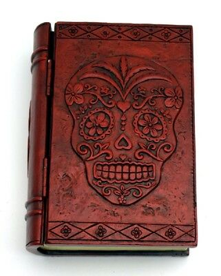 Sugar Skull Calavera Day of the Dead Book Jewelry Trinket Box Dia de los Muertos