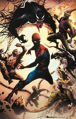 JAE LEE rare SPIDER-MAN print 11 x 17 SIGNED limited NEW Sinister Six LAST TWO