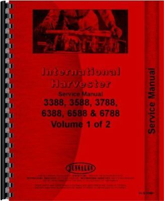 IH International Harvester 3388 3588 3788 6388 6588 6788 Tractor Service Manual