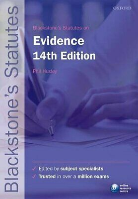 Blackstone's Statutes on Evidence (Blackstone's Statute Series) Book The Cheap