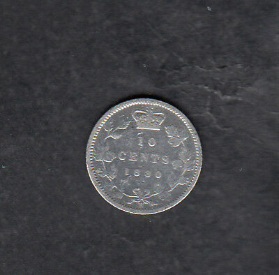 1880 H Canada Silver 10 Cents