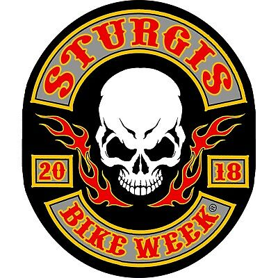 2018 STURGIS RALLY 78th Anniversary Rocker Skull  BIKER PATCH