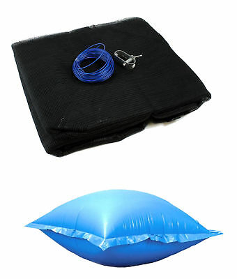 15/'x30/' Oval Above Ground Winter Pool Cover 4x4 Air Pillows Winterizing Kit