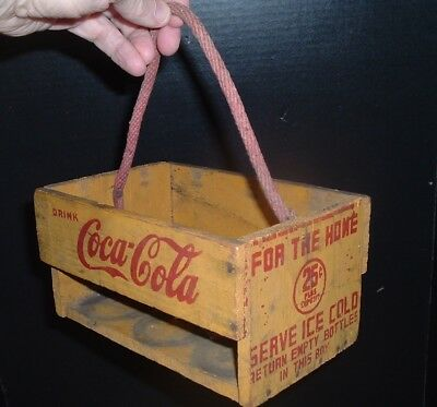 Antique Coca Cola Soda Pop Old Coke 1930's Wood Coke Bottle Carrier NICE!
