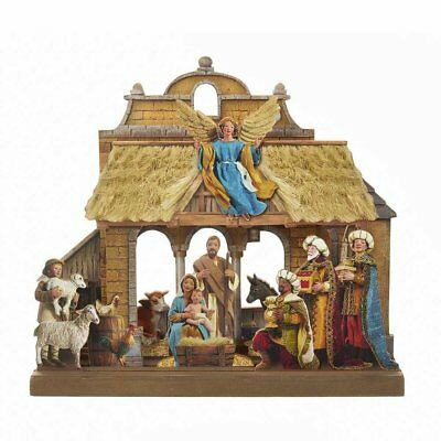 2D Wooden Christmas Nativity Scene Set 10.6 Inch Holiday Decoration C6859 New