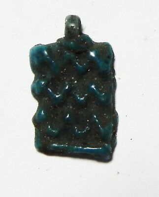 Zurqieh - As5735- Ancient Egypt, Amarna Faience  Amulet. 1400 B.c