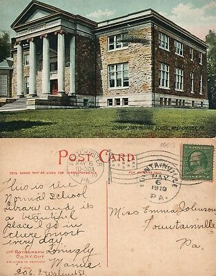 West Chester Pa Library State Normal School 1910 Antique Postcard